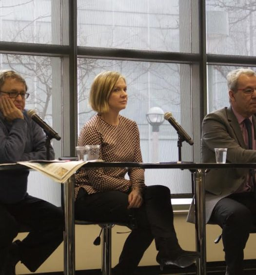 From left to right, panelists Ivor Shapiro, Lee-Anne Goodman and James Turk. Photo courtesy Robert Liwanag.