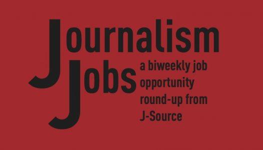 Journalism Jobs: May 25