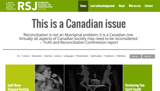 Ryerson reporting project on Truth and Reconciliation makes waves