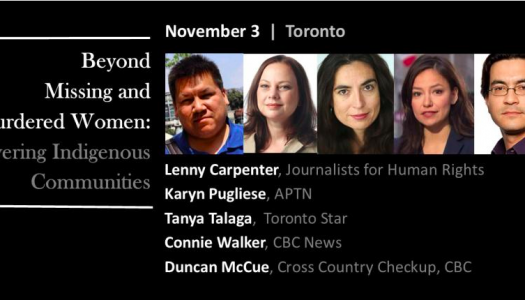 Live Blog: Beyond Missing and Murdered Women—Covering Indigenous Communities