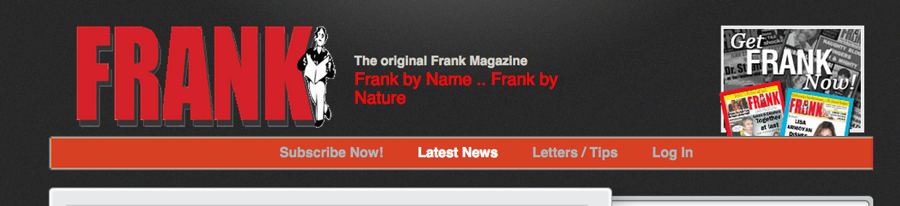 Halifax's scandal and satire magazine Frank has had a publication ban charge dismissed. Screenshot by J-Source.