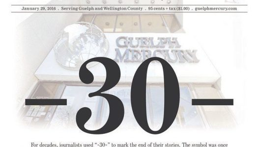 The last days of the Guelph Mercury