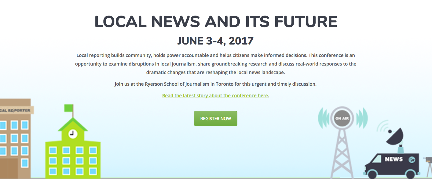 Scholars, journalists and educators from around the world will gather in Toronto this spring to discuss the state of local journalism.
