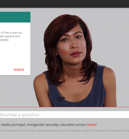"""""""Bhumika Can Speak For Herself"""" is a project powered by IBM's Watson technology. Screenshot by J-Source."""