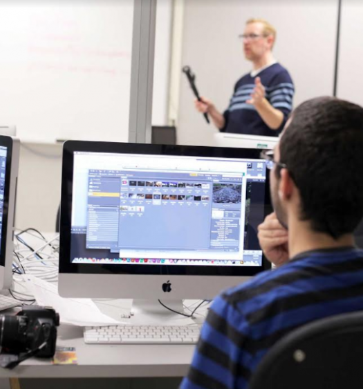 Phil Raby teaches at Durham College, which is in the process of Indigenizing their broadcasting program. Photo courtesy of Durham College.