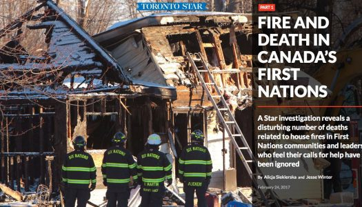 How Alicja Siekierska reported on fires and deaths in Canada's First Nations communities