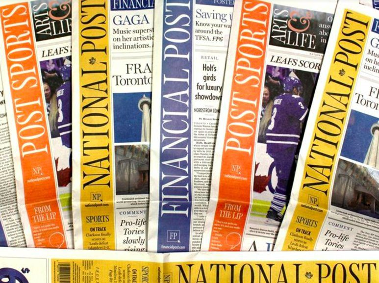 Normally a summer policy, now there will be no Monday editions of the National Post indefinitely.