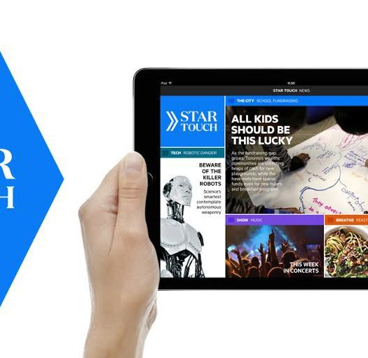 The closure of the Star Touch app will impact 30 staff total, all who worked on Star Touch. Image courtesy of the Toronto Star.