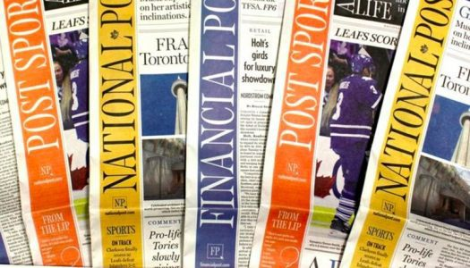 Print editions of the National Post and Calgary Herald are no longer available in Saskatchewan