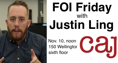 FOI Friday with Justin Ling