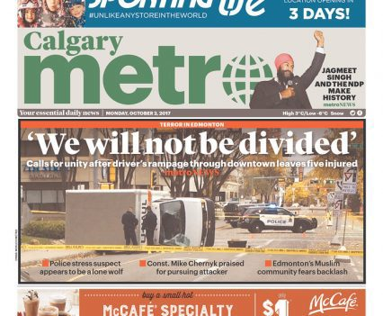 Calgary Metro front page