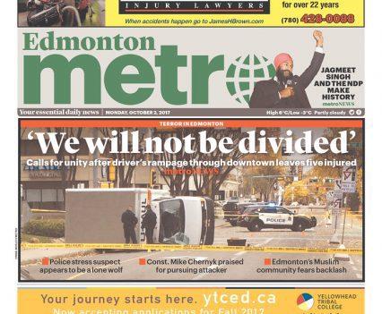 Edmonton Metro front page