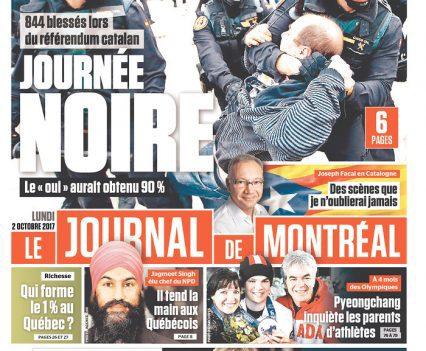 Le Journal de Montréal front page