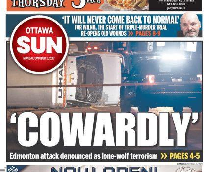 Ottawa Sun front page