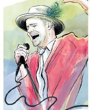 """Kingston Whig Standard front page with illustration of Gord Downie singing into microphone with headline """"Gord Downie: 1964-2017, a Special Tribute"""""""