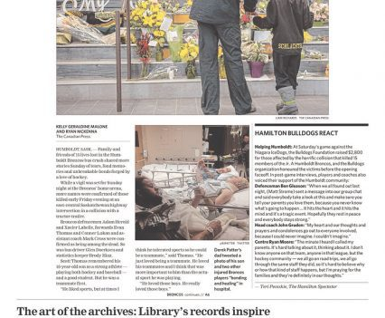 """The Hamilton Spectator front page with headline """"'Our lives will never be the same'"""""""