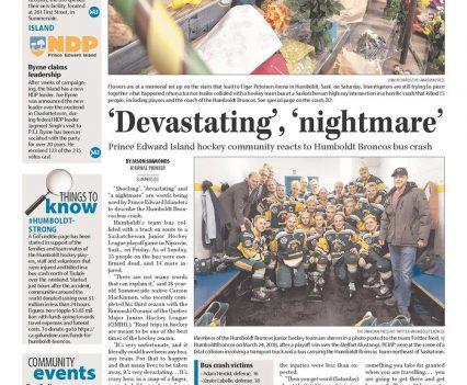 "Journal Pioneer front page with headline ""'Devastating', 'nightmare'"""