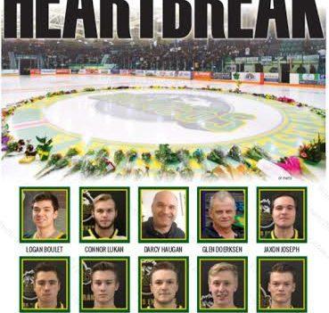 "Medicine Hat News front page with headline ""Heartbreak"""