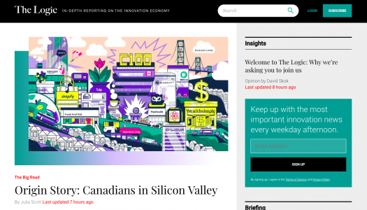 Canada's The Logic is a new subscription news outlet focused on the innovation economy
