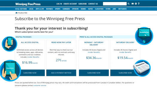 Winnipeg Free Press uses human touch to get digital subscribers