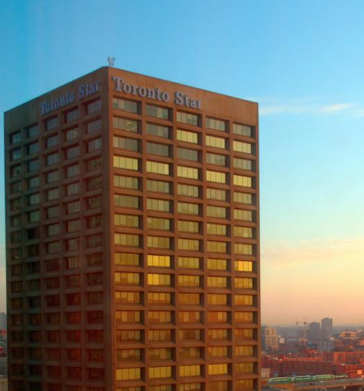 Exterior of Toronto Star building