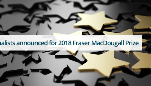 Finalists announced for 2018 Fraser MacDougall Prize