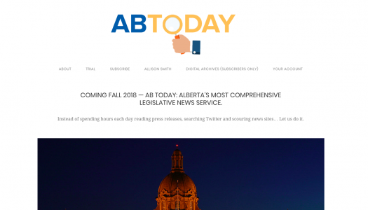 AB Today to launch ahead of Alberta elections
