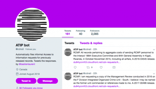 ATIP Twitter bot aims for access reform