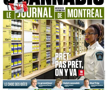 "Le Journal de Montréal front page with headline ""Pret pas pret, on y va"""
