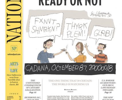 "National Post front page with headline ""Open for business, ready or not"""