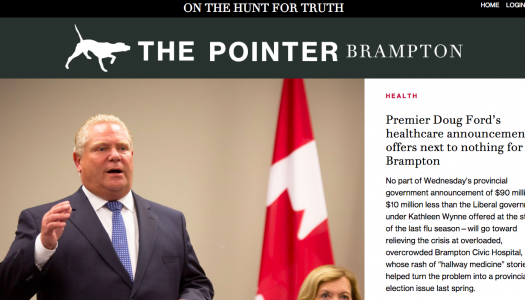 The Pointer launches for Brampton readers