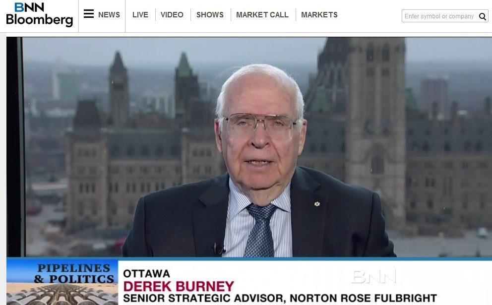 Derek Burney appears on BNN Bloomberg