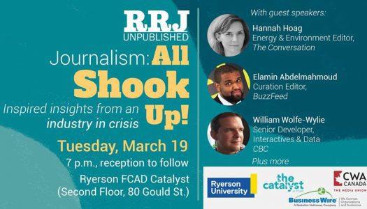 Journalism: All Shook Up! RRJ Unpublished