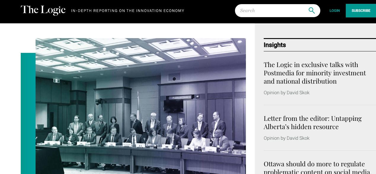 Logic homepage