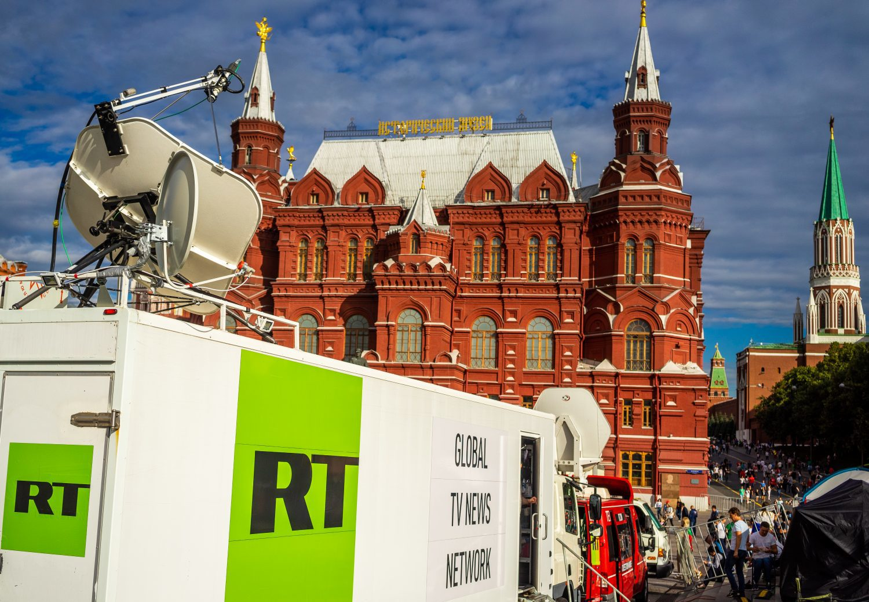 RT News truck