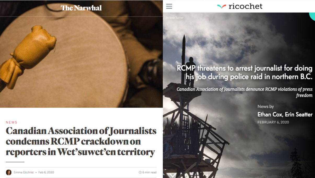 Screenshot of coverage by the Narwhal and Ricochet