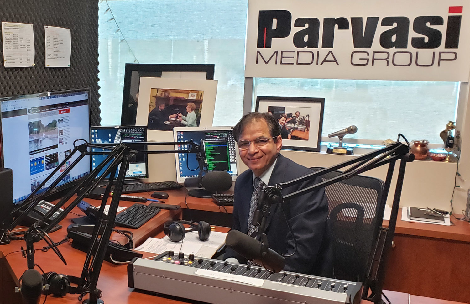 Rajinder Saini in the Parvasi Media Group office