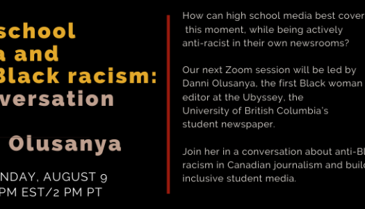 High school media and anti-Black racism: A conversation with Danni Olusanya