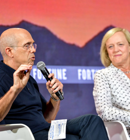 Quibi founder Jeffrey Katzenberg and CEO Meg Whitman appear a Fortune Brainstorm TECH conference on July 16, 2019 in Aspen, CO