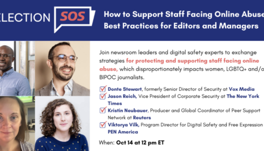 Supporting staff facing online abuse: Best practices for editors and managers