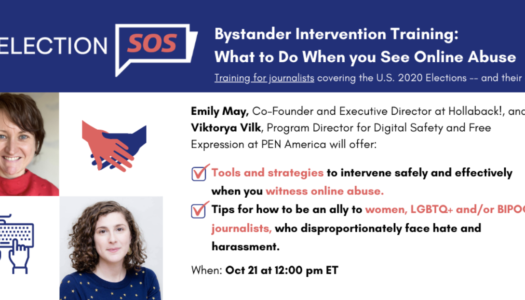 Bystander intervention training: What to do when you see online abuse