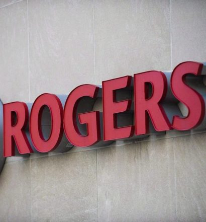 Red Rogers sign on building