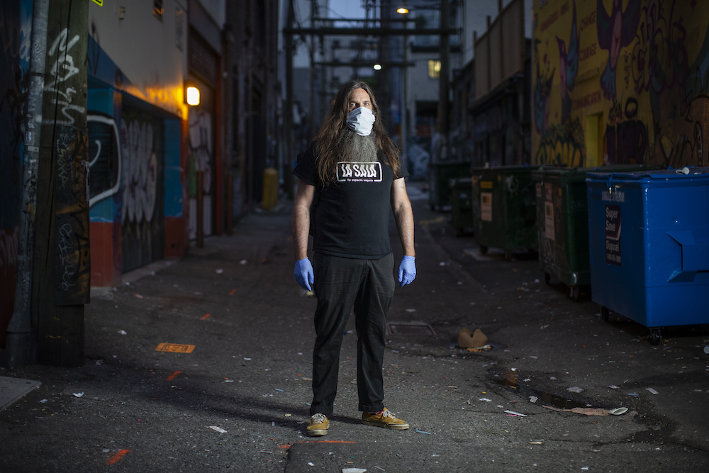 Ronnie Grigg is a longtime harm-reduction worker who runs the Zero Block Society, a non-profit that aims to help support other frontline workers in Vancouver's Downtown Eastside.