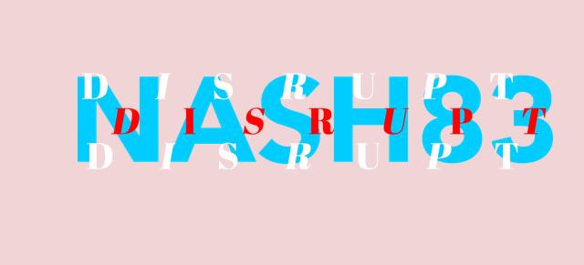 NASH83 logo on pink background