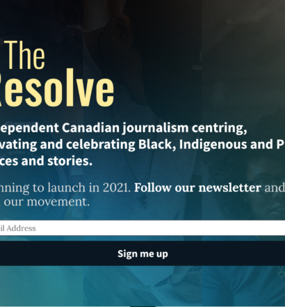 The Resolve's homepage