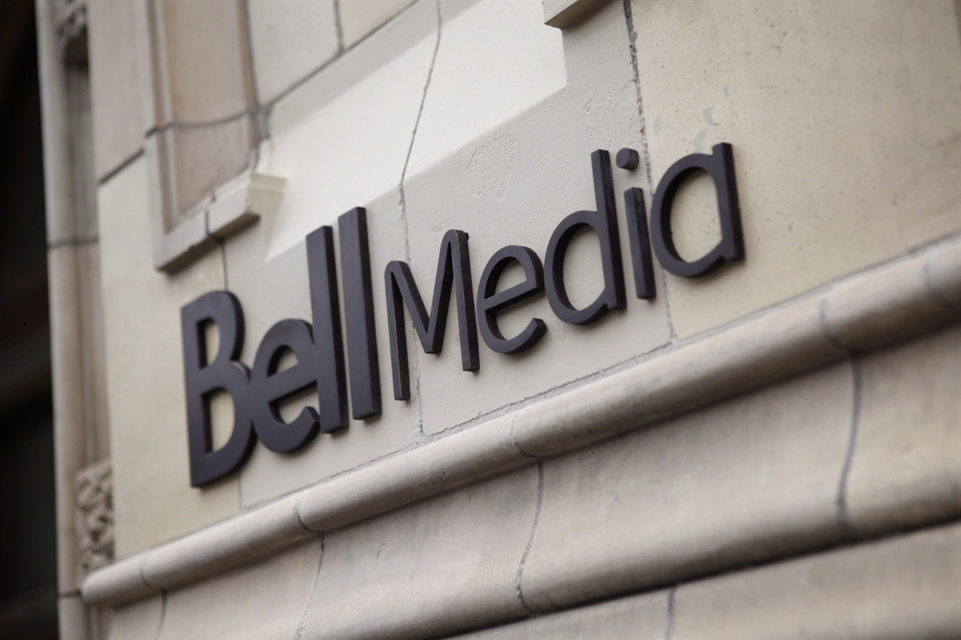 The logo for Bell Media, owned by BCE Inc., is displayed on a Toronto