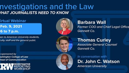Investigations and the Law: What Journalists Need to Know