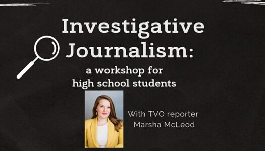 Investigative Journalism Workshop for High School Students