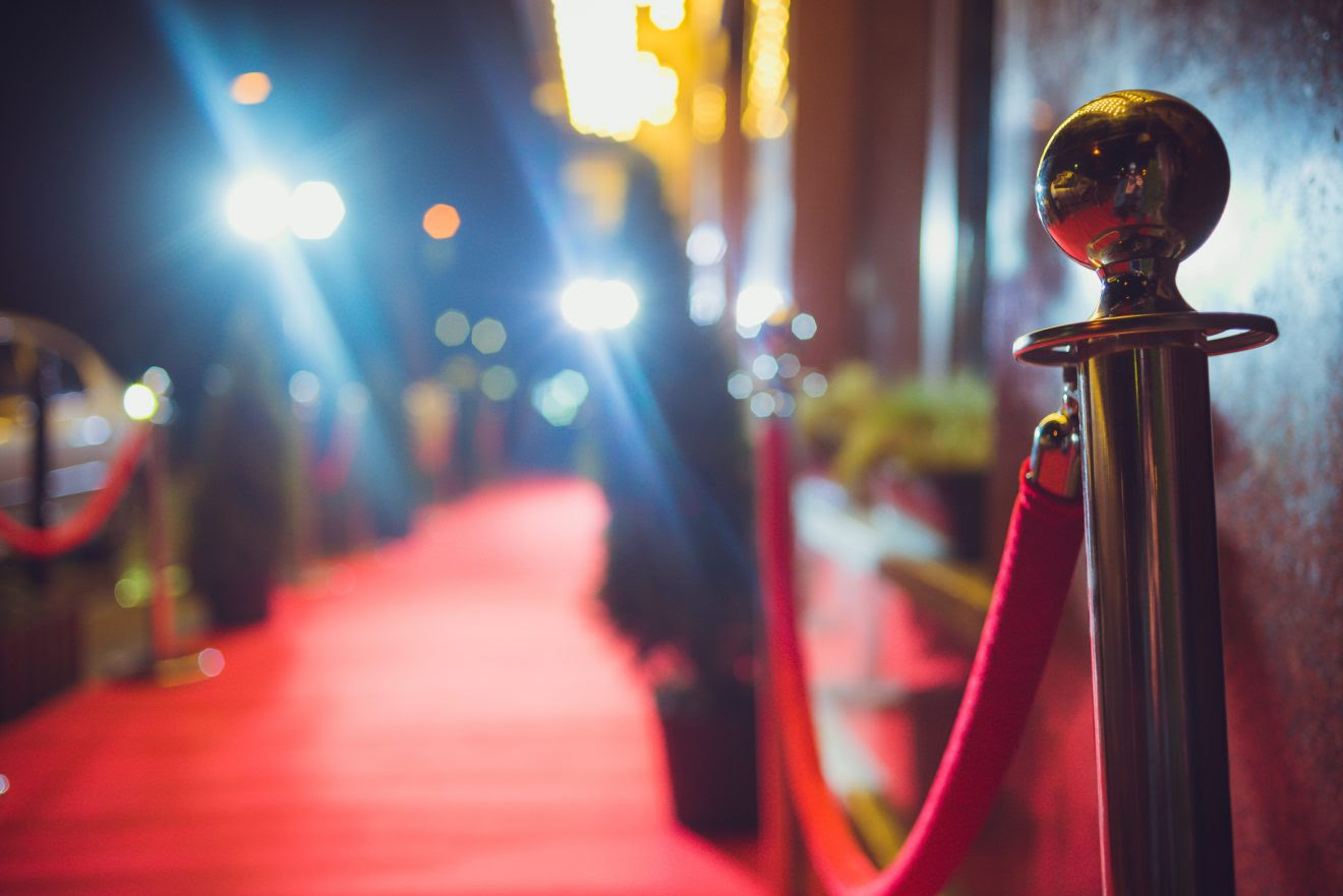 Red carpet and red rope