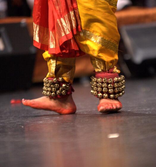 Prapti Bamaniya performing at her Arangetram, a bharatanatyam graduation ceremony at City Playhouse Theatre on August 3, 2019